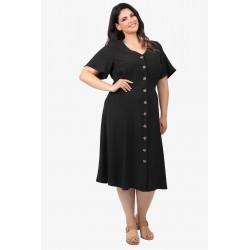 Dina Φόρεμα  20120572 Μαύρο