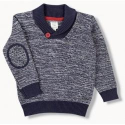 LOSAN Μπλε πουλόβερ με...