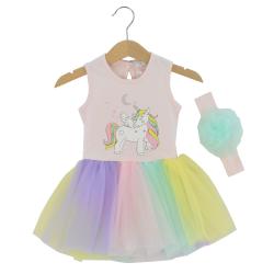 Εβίτα Φόρεμα 214523 Ροζ