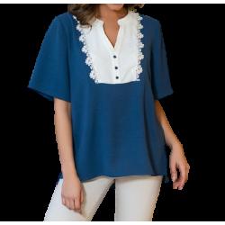 Derpouli Μπλούζα 85750 Μπλε