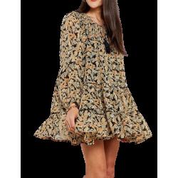 Bsb Printed Mini Dress...