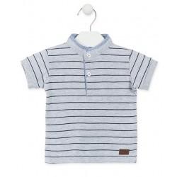 LOSAN Γκρι πόλο μπλουζάκι...